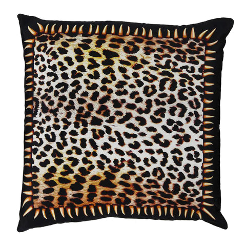 Leopard Teeth Cushion Gold