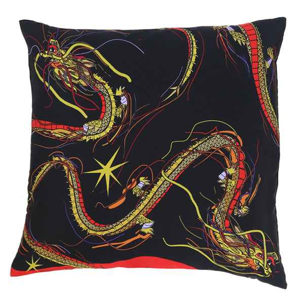 Dragon Cushion Black