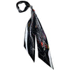 Dragon Super Skinny Scarf Black