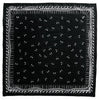 Flies Bandana Black Flat Product Shot