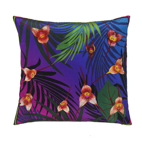 Monkey Orchid Cushion Black