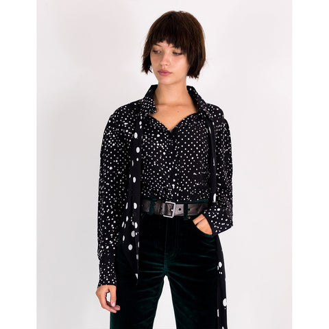 Redlands Polka Puff Sleeve Shirt