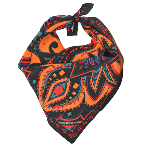 Prickly Paisley Bandana Orange