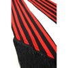 Stripe Classic Skinny Fringed Scarf Red and Black