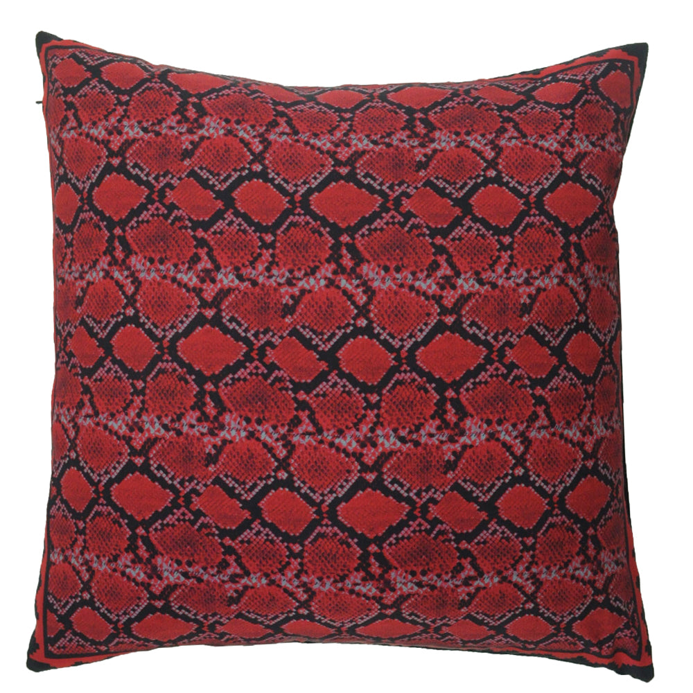 Snakeskin Cushion Red