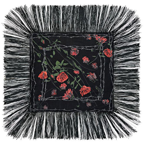 Roses Mini Throw Black