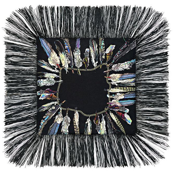 Feathers Mini Throw Black
