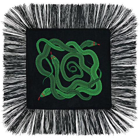 Snakes Mini Throw Green