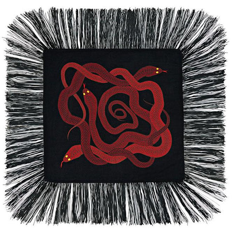 Snakes Mini Throw Red