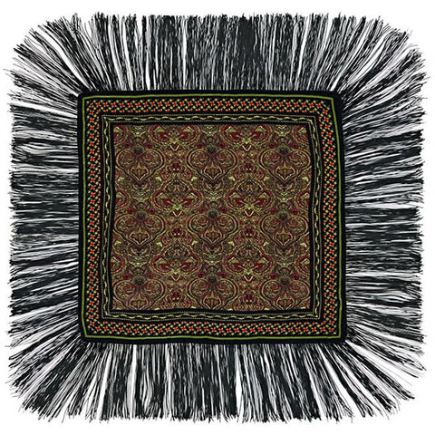 Tiger Paisley Mini Throw Black
