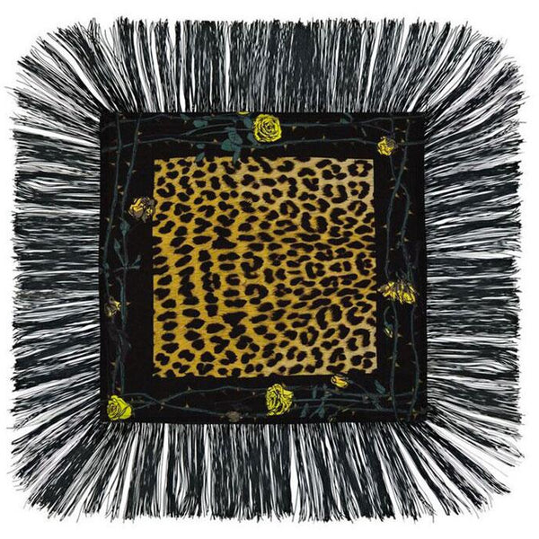 Rose Leopard Mini Throw Gold