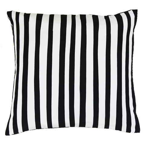 Stripy Cushion Black & White