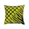 Tartan Cushion Black and Yellow