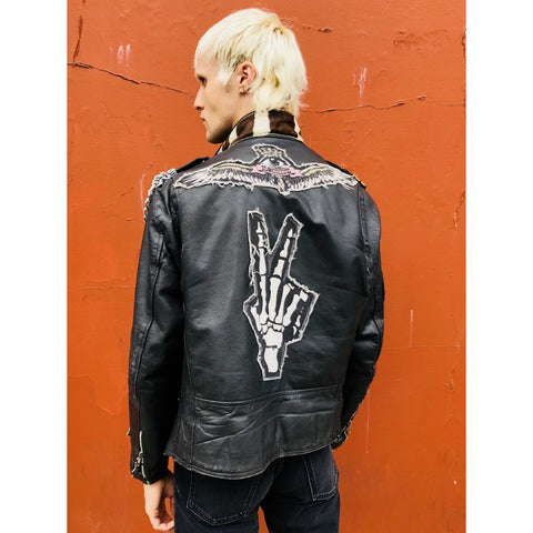 'Timbos' customised leather jacket