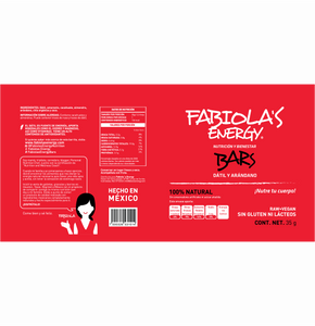 Fabiola's Energy Bars Dátil Arándano