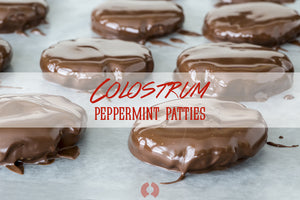Colostrum Peppermint Patties - Holiday Candy Upgrade!