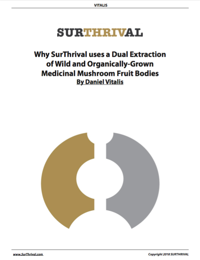 Why SurThrival uses a Dual Extraction of Wild and Organically-Grown Medicinal Mushroom Fruit Bodies