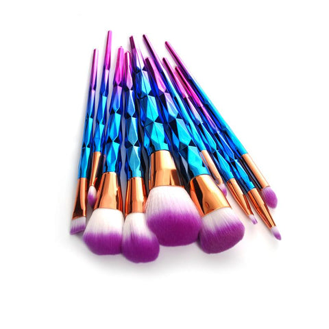 11-Piece Unicorn Makeup Brush Set