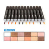 Image of 12 Colors Skin Tones Soft Brush Markers Set