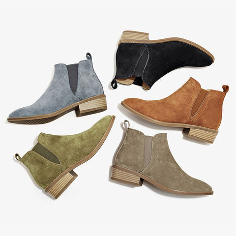 Cowhide Suede Leather Winter Boots for Women