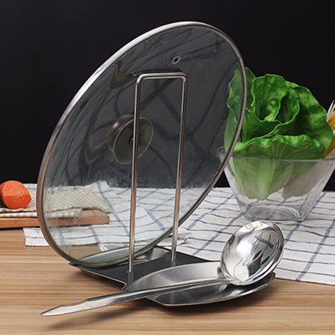 Stainless Steel Pot Lid Rack Kitchen Organizer