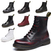 Image of Leather Ankle Winter Boots for Men