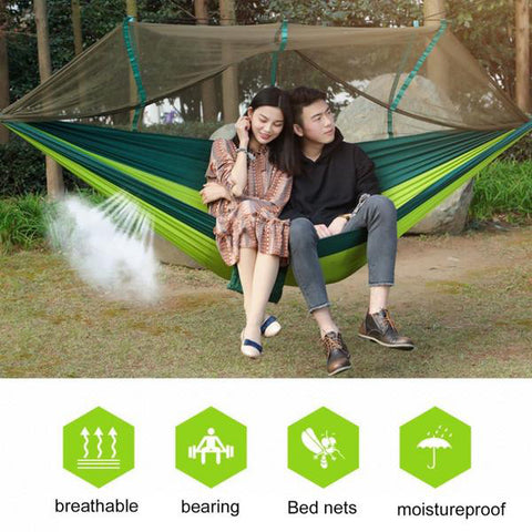 Large Nylon Outdoor Hammock  With Mosquito Nets