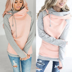 Cozy Double Hood Pullover Hoodie for Women