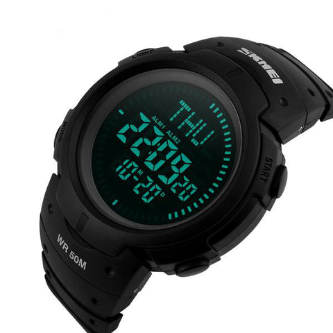 Waterproof Compass Digital Wrist Watch