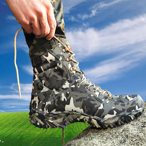 Light Camouflage Tactical Combat Boots