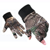 Image of 4PCS Winter Bionic Camouflage Hunting Suit with Gloves and Hat