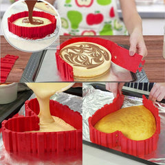 4-Piece Silicone 3D Baking Mold