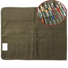 Roll-Up Canvas Paint Brush Bag