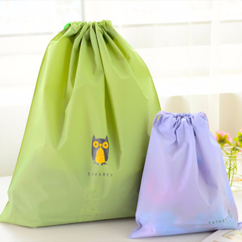 5 pcs Waterproof Cartoon Drawstring Storage Bags