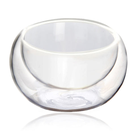 6 pcs Heat Resistant Double Wall Glass Tea Cups
