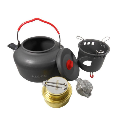 Portable Outdoor Kettle with Alcohol Stove