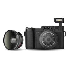 Rotatable Anti-Shake 24MP Digital Camera with Wide-angle Lens and UV Filter