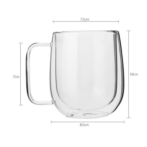 300ML Heat Resistant Double Wall Clear Glass