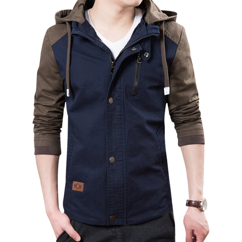 Slim Fit Military Zipper Jackets for Men