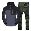 Image of Waterproof Softshell Fleece Jacket and Pants Set