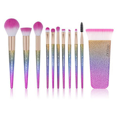 11-Piece Rainbow Makeup Brush Set