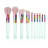 Image of 10-Piece Light Green Makeup Brush Set