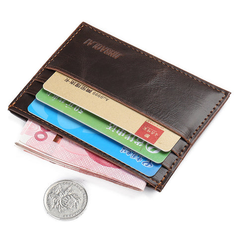 Mini Credit Card Leather Wallet