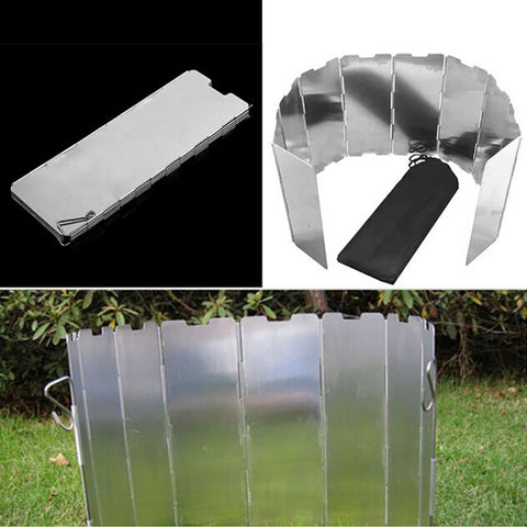 Stainless Steel Foldable Gas Stove Wind Shield Screen