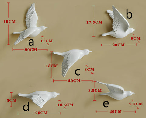 3D Resin Dove Hanging Wall Decor