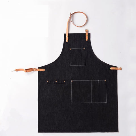 Cross Back Kitchen Denim Apron