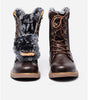 Image of Genuine Leather Mid Length Winter Boots with Wool Lining