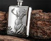 Image of 6 oz Stainless Steel Wine Bottle Hip Flask with Gift Box