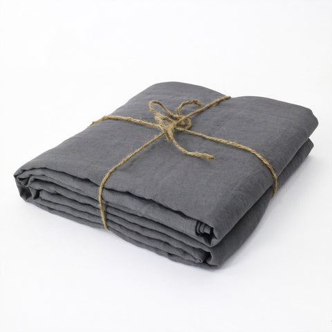 Pure Linen Double Bed Flat Sheets