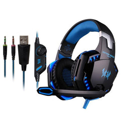 50MM USB Stereo Gaming Headset with LED Lights